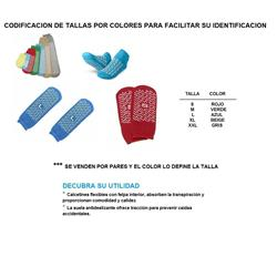 CALCETIN DOBLE SUELA ANTIDESLIZ T-M (PAR) MEDLINE